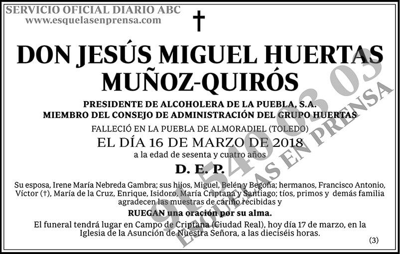 Jesús Miguel Huertas Muñoz-Quirós